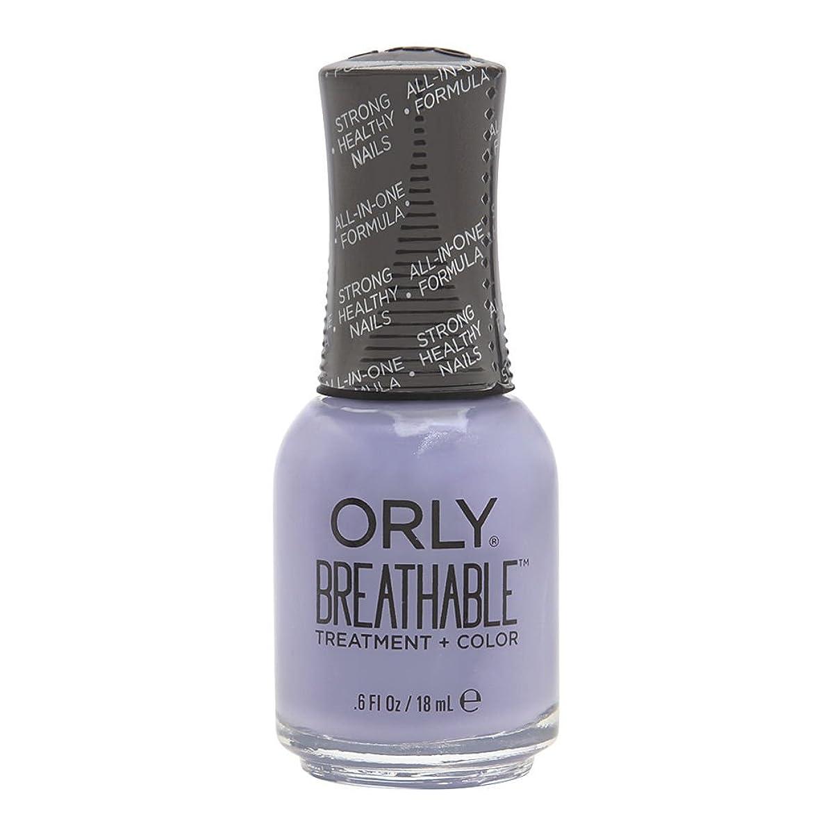 アイザックプロポーショナル姿を消すOrly Breathable Treatment + Color Nail Lacquer - Just Breathe - 0.6oz/18ml