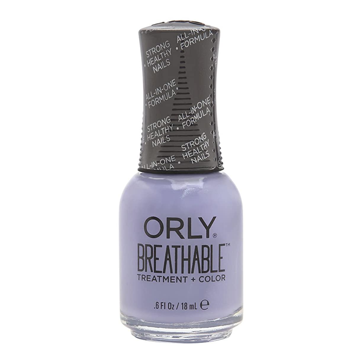 名前を作る物理学者モーションOrly Breathable Treatment + Color Nail Lacquer - Just Breathe - 0.6oz/18ml