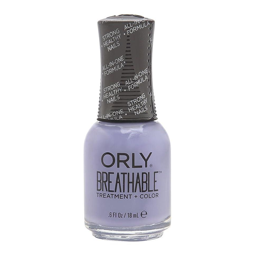 衝動ドメイン現実的Orly Breathable Treatment + Color Nail Lacquer - Just Breathe - 0.6oz/18ml