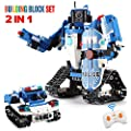 EL 2 in 1 Building Block Robot Remote Control Policeman Robot Car Toy Educational Kit Engineering STEM Building Toys Intelligent Gift for Boys and Girls (556 PCS)
