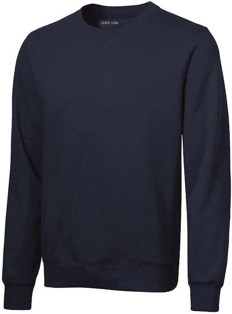 Mens Premium Crewneck Sweatshirts - Cotton Super special price Fleece Poly Max 61% OFF Sweatshir