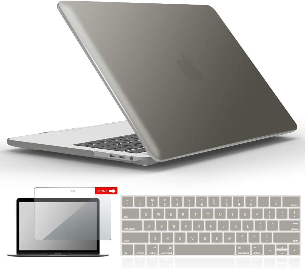 Funda gris protector teclado y vidrio para  MacBook Pro 13