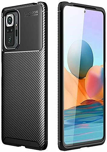BNBUKLTD® Compatible con Xiaomi Redmi Note 10 Pro Funda de Gel de Carbono Ultra Delgado a Prueba de Golpes