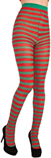 Forum Novelties Inc - Christmas Striped Red/Green Tights