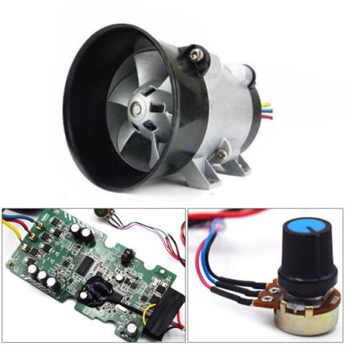 12V Car Electric turbine power Turbo charger Tan Boost Air Intake Fan + ESC Well