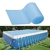 Lona Térmica Protectora Cobertor Piscina Cubierta Solar Piscina Isotérmica Azul Redondo Cubierta De Burbujas para Cobertor Piscina Hinchable/Cobertor Piscina Redondo Frame