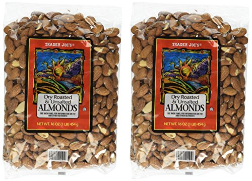 Trader Joe#039s Dry Roasted and Unsalted Almonds  1lb 2  Pack