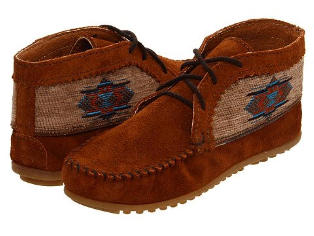石のピッチ騙す(ミネトンカ) MINNETONKA レディースブーツ?靴 El Paso Ankle Boot Brown Suede 6 23cm M [並行輸入品]