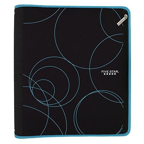 Five Star Zipper Binder, 2 Inch 3 Ring Binder, Xpanz Expandable with Interior Pockets, Teal Circles (73234) Photo #3