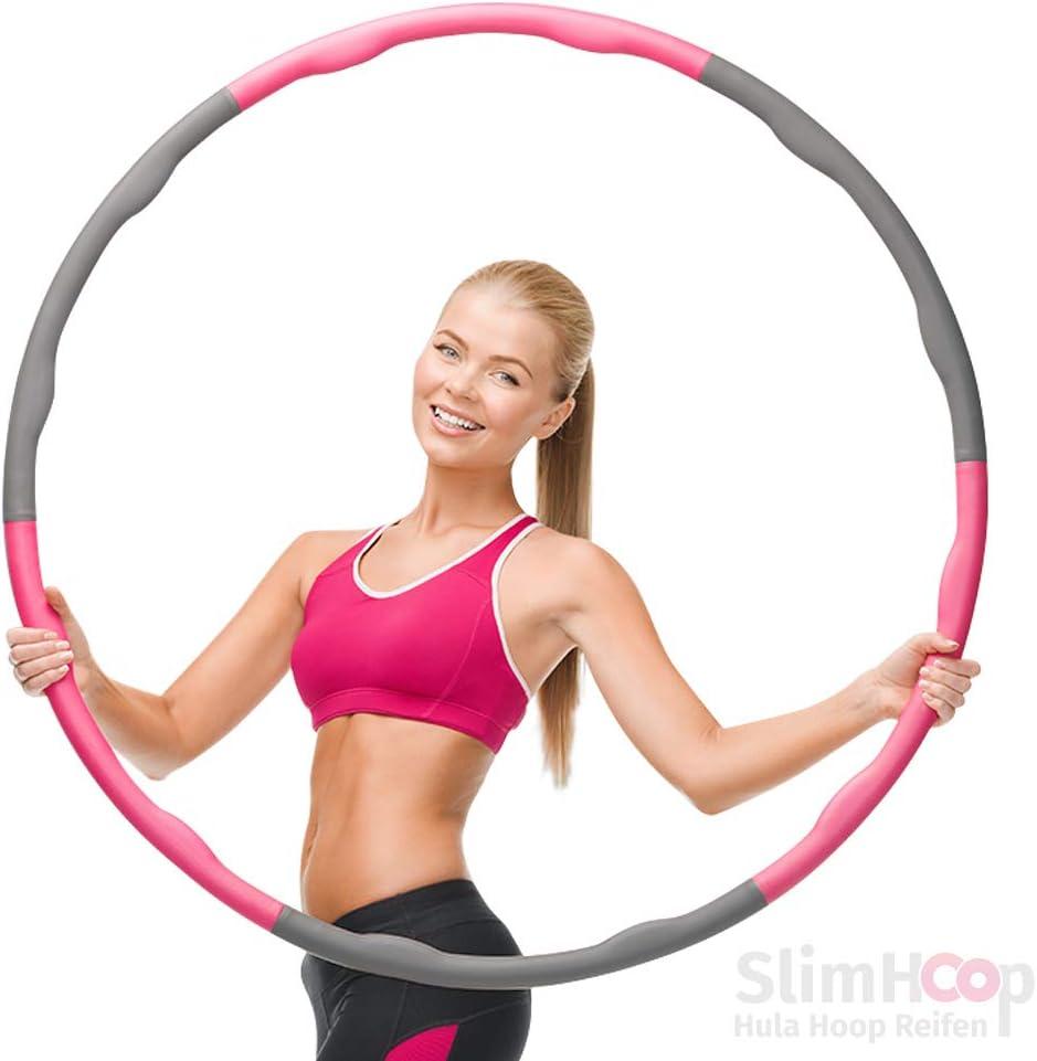 ATIVAFIT Hula Hoop Reifen mit Schaumstoff Beschwerter Reifen mit Einstallbarer Bereit 8 Abschnitten Sport Hula Hoop Reifen Gymnastikreifen f/ür Fitness und Abnehmen