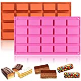 WENTS Rechteckige Form 2PCS Silikonform für Kuchen, Backen, Rinde, Kuchen, Muffins, handgemachte...