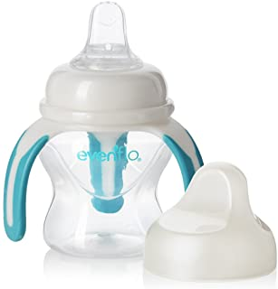 Evenflo Feeding Soft-flo Trainer Sippy Cup with Handle for Growing Baby and Toddler - Clear, 5 Ounce (Pack of 1)