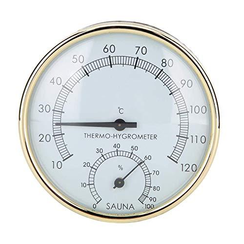 Chaohua Saunathermometer Hygrometer Saunaraum Dampfbad warmes Windbad Zubehör wasserdichtes und feuchtigkeitsbeständiges mechanisches Thermometer Hygrometer