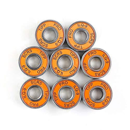 DNAMAZ Skate 8 x ABEC 2RS Inline rodamiento de Rodillos del patín de Ruedas Anti-óxido Monopatín de cojinete de Rueda del Patinaje de Rodillo 8x22x7mm Eje Ruedas (Color : Yellow)