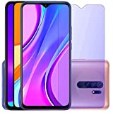 Specifically designed for the Redmi 9/ Redmi 9A/ Redmi 9 Prime/Redmi 9 Power/Xiaomi Poco M3/Poco M2/Poco C3 Design for your Eyes' Health! Anti-Blue Light Filter Tempered Glass Screen Protector prevent your Eye Retina from eye fatigue causing by Blue ...