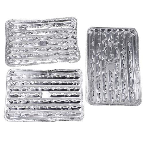 HomeDecTime 20x Bandejas De Asar A La Parrilla Desechables De Papel De Aluminio para Pasteles De Barbacoa