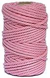 Cuerda/Hilo Macrame de Algodón Rosa 5mm - Cortina macrame, tapiz macramé,...