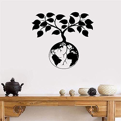 pegatina de pared pegatina de pared 3d Tierra que protege la planta de significado especial diseñada que crece en la tierra para decoración especial para el hogar