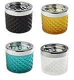 Windascher aus Glas und Metall (verchromt), Glas gefrostet, Glas erhältlich in unterschiedlichen...