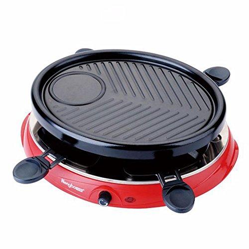 Tabla Barbacoa Grill antiadherente eléctrico Teppanyaki grande extraíble 801W-1200W para 2-3 personas...