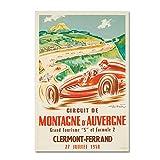 Clermont Ferrand Formule 2 Auvergne 1958 Poster Format