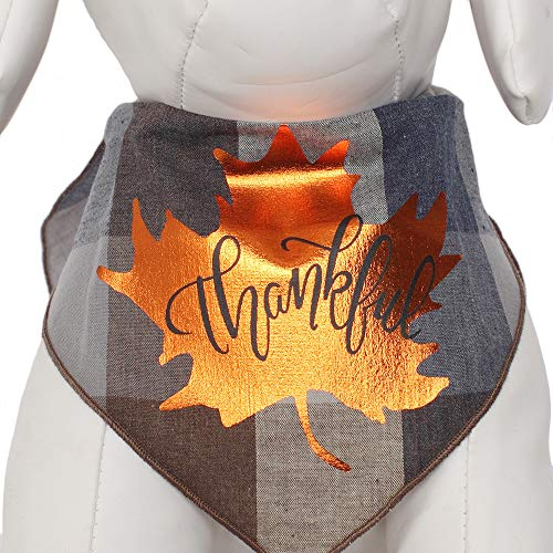 Tail Trends Dog Bandanas with Thanksgiving Themed Designs fits Medium to Large Sized Dogs - 100% Cotton