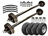 5.2k Heavy Duty Tandem Axle TK Trailer kit - 10,400 lb Capacity (85' Hubface - 70' Spring Center(6'0 Frame), No Spare Needed)