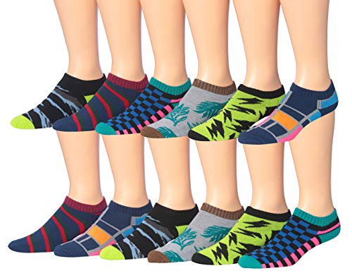 James Fiallo Men's 12-Pairs Performance Low Cut Athletic Sport Socks 2903-3
