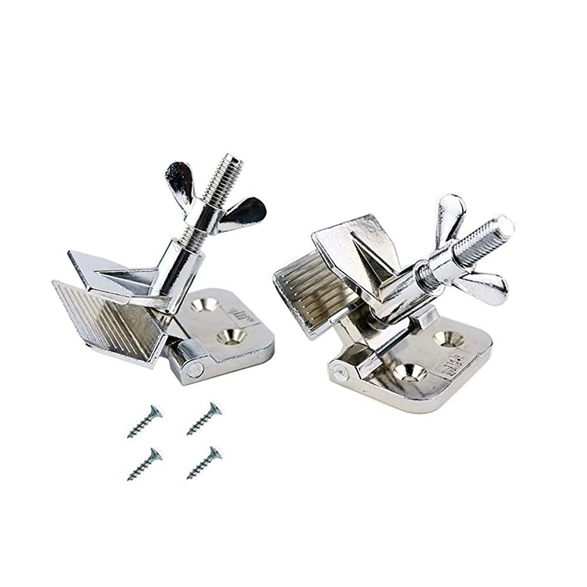 2Pcs of Screen Frame Butterfly Hinge Clamp for Silk Screen Printing Hobby Printer Include Four Screws