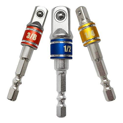 Stecknuss Adapter Set Sechskant Stecknussadapter Steckschlüssel Schraubenschlüssel Nuss Set Verlängerung für Akkuschrauber - Daoxue Adapter Sechskant Größen 1/4