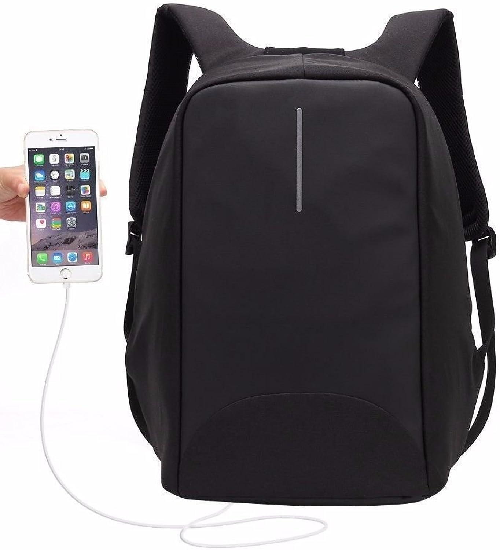 BMKWSG Uni Synthetik Leder Damen Rucksack Multi Taschen Taschen Taschen Schwarz B07FCHB15H  Leitende Mode 0fb00a