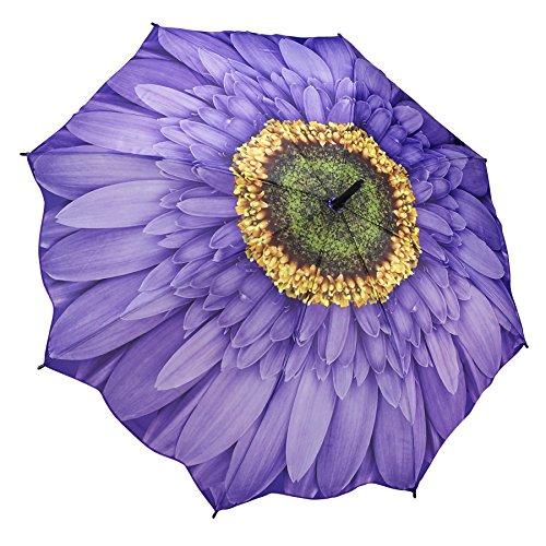 Galleria Wisteria Daisy Auto-Open Extra Lg Quality Rain Stick Umbrella for Women