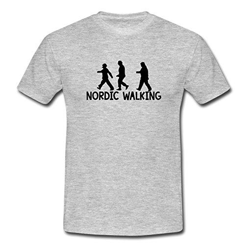 T-Shirt Die Olsenbande-Nordic Walking (L, ashgrey)