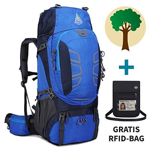 Adventure 4 Life - Hochwertiger Trekkingrucksack 60L für Damen & Herren - Wanderrucksack für Outdoor - Camping - Travel – Backpackers - Dein Kauf unterstützt ein Regenwaldprojekt