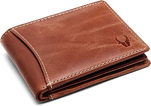 WILDHORN RFID Protected Leather Brown Men's Wallet (WH1255 Crunch)…