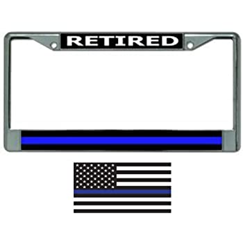GOD BLESS THE POLICE  License Plate Frame