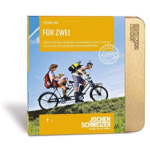 Jochen Schweizer Erlebnis-Box 'Für Zwei', mehr als 760 Erlebnisse für 2 Personen, Geschenk-Gutschein für Paare und Freunde