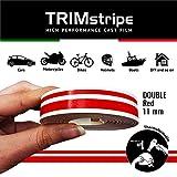 4R Quattroerre.it 10509 Trim Stripes Strisce Adesive per Auto, Rosso, 2F 11 mm x 10 mt