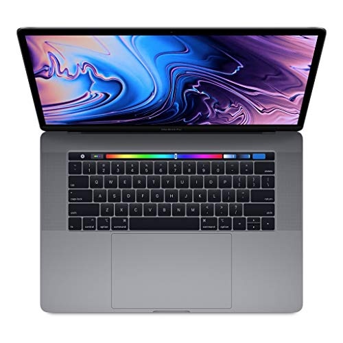 Apple 15.4in MacBook Pro Laptop (Retina, Touch Bar, 2.6GHz 6-Core Intel Core i7, 16GB RAM, 512GB SSD Storage) Space Gray (MR942LL/A) (2018 Model) (Renewed)