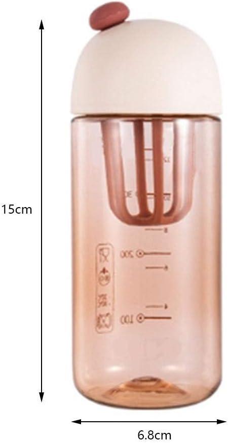 Manual de Copa de plástico jugos Shaker Copa portátil anticaída Exprimidor Exprimidor Copa Mini Copa 420ML for el hogar al aire libre (color: A) FDWFN (Color : D) A