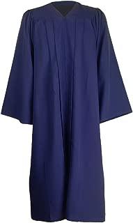 Unisex Premium Matte Gown for Graduation Choir Judge Halloween Costumes12 Colors Avaliable