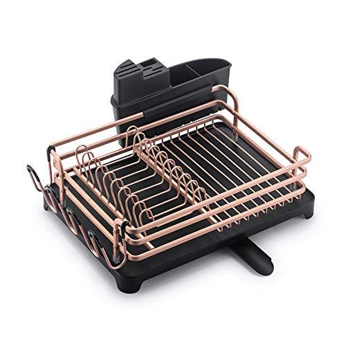 Estante para platos de secado de cocina de aluminio plateado, soporte para cuchillos, escurridor de cubiertos, placa de almacenamiento, estante organizador de copa de vino-segundo