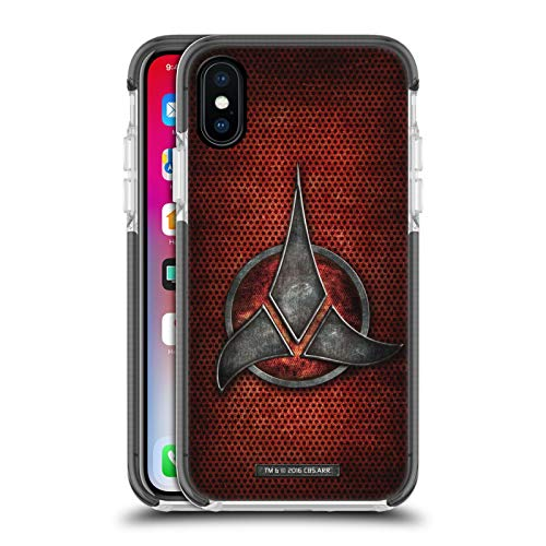 Head Case Designs Officially Licensed Star Trek Empire Klingon Badges Black Shockproof Gel Bumper Case Compatible With Apple iPhone X / iPhone XS