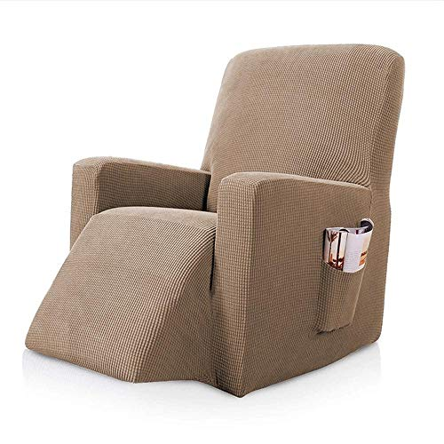 Phy 1-Stück Sesselschoner, Liegestuhl-Abdeckung, Stretch Überzug, Bezug für Fernsehsessel, Liege Sessel, Schaukelstuhl, Relaxstuhl, Recliner Sessel Möbelschutz, rutschfest Sand-1 Seater
