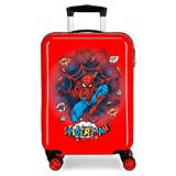 Marvel Spiderman Pop Maleta de Cabina Rojo 38x55x20 cms Rígida ABS Cierre...