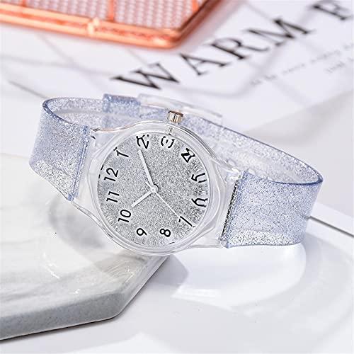 Relojes Moda Mujer Chicas Verano Fresco Plástico Dial Correa Color Tendencia Verano Relojes De Cuarzo Damas Chicas Reloj Regalo SL
