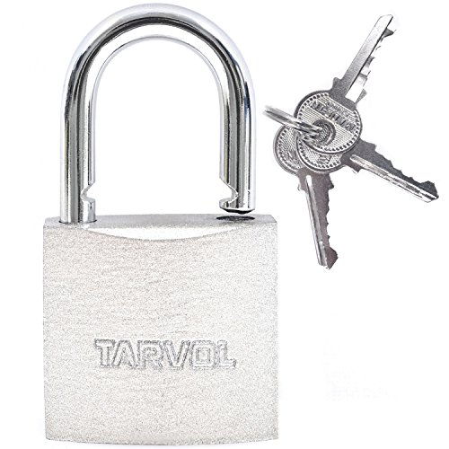 Steel Padlock with Keys (Heavy Duty Security) Safely Lock Interior or Exterior Gates, Sheds, Lockers, Bikes, Tool Box, or Containers. Includes 3 Master Keys