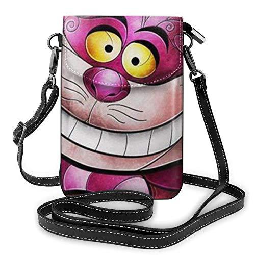 XCNGG Monedero pequeño para teléfono celular Alice'S Cat Cell Phone Purse Shoulder Bag Travel Daypack Women Girls Party Gift