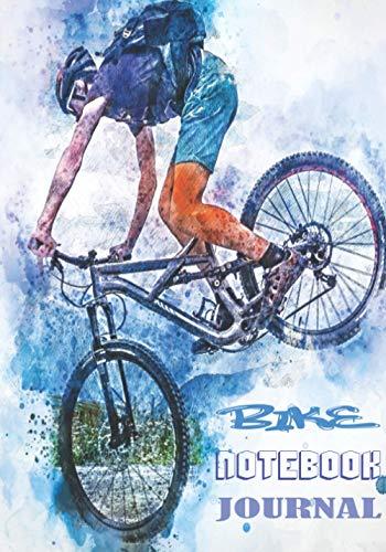 BIKE NOTEBOOK JOURNAL: Quaderno a righe vuote per chiunque ami la propria bicicletta, qualunque sia la loro età. Ideale come regalo per tutti gli appassionati di ciclismo