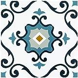 Achim Home Furnishings RTFTV60120 Retro 12x12 Self Adhesive Vinyl Floor Tile-Slate-20 Tiles/20 sq. ft, Slate